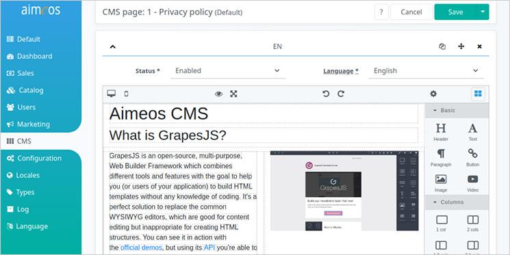 Aimeos Ecommerce Framework